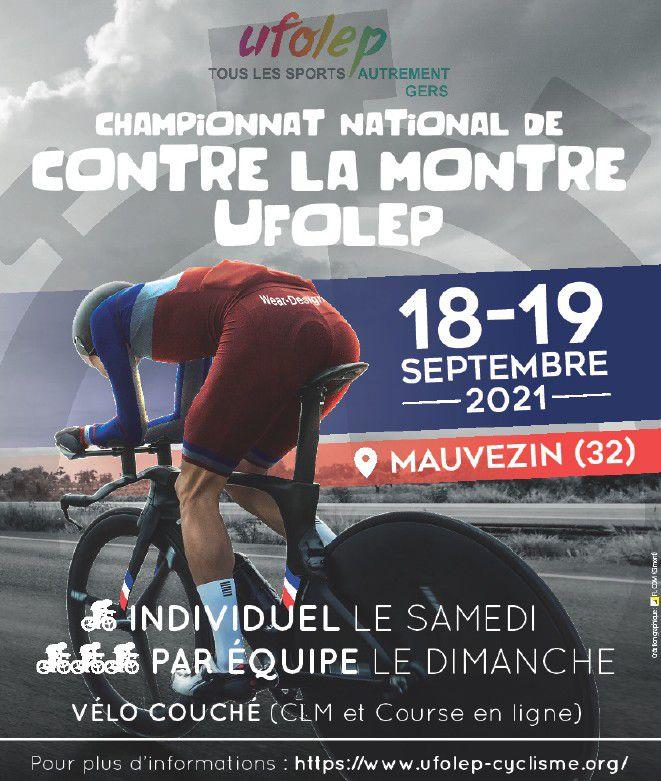 National UFOLEP CLM les 18 et 19 septembre 2021 à Mauvezin (32)