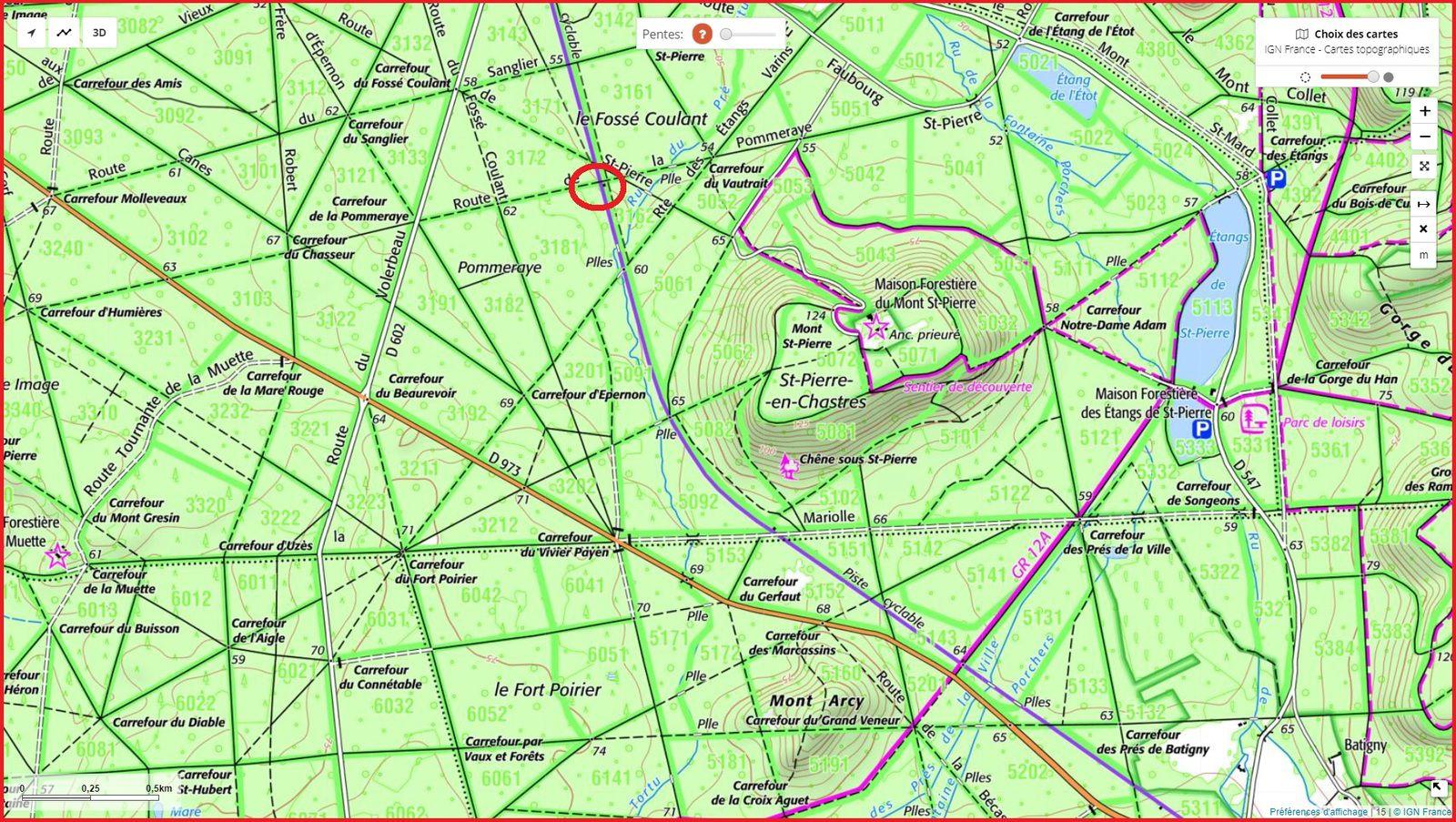 carrefour_Route de la Pommeraye_piste cyclable