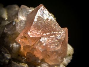 Pink Fluorite on Smoky Quartz from Mont Blanc, Rhrone Alpes, France (size: Small Cabinet)