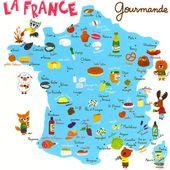 Carte La France Gourmande by PORTES