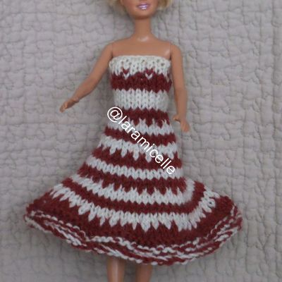 tuto gratuit Barbie ; robe jacquard