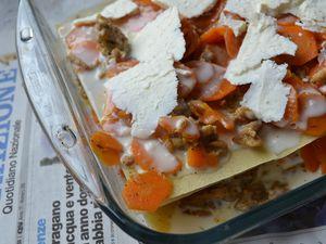 Lasagne carottes et viande