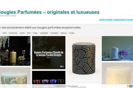Un blog aux bougies parfumées Design