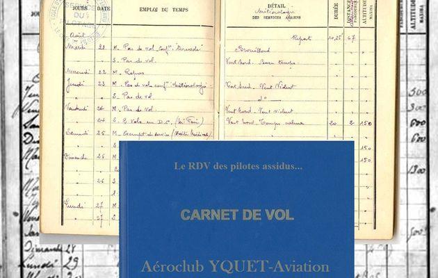 Le Carnet de vol est de nouveau opérationnel...
