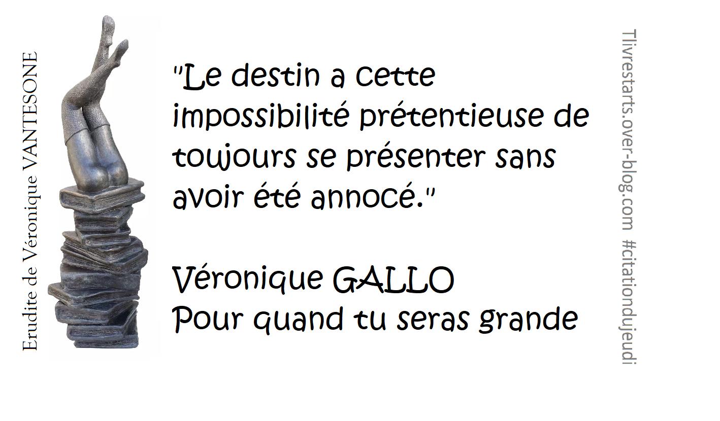 Pour quand tu seras grande de Véronique GALLO