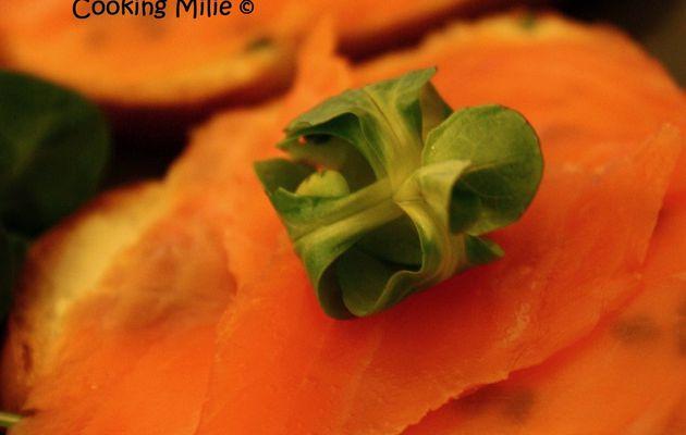 Tartines express au saumon, fromage frais et ciboulette