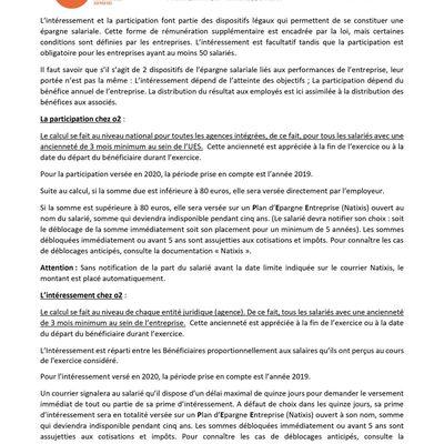La Cfdt t'informe : PARTICIPATION - INTÉRESSEMENT