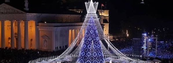 Vilnius lights up the most beautiful Christmas tree in Europe