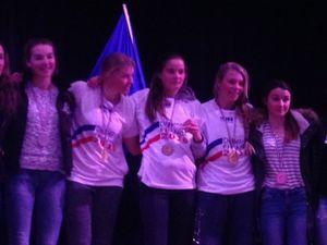 Les filles de la Biqualif CHAMPIONNES DE FRANCE UNSS 2016