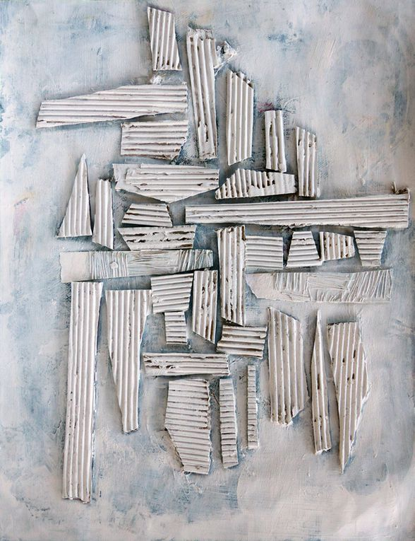 3 compositions d'Evelina Nichanian (dessin, monotype, collage)
