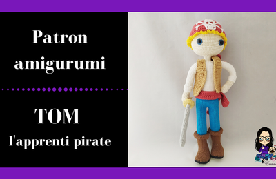 Patron au crochet - Tom l'apprenti pirate