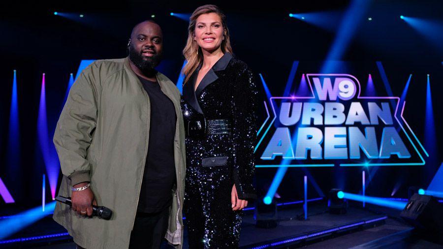 """Le concert """"W9 Urban Arena"""" présenté par Doumbia et Zahra Harkat diffusé le 10 juillet sur W9"""