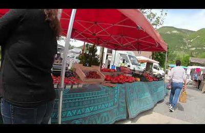 Saint André les Alpes  : vidéo du marché hebdomadaire du 29 mai
