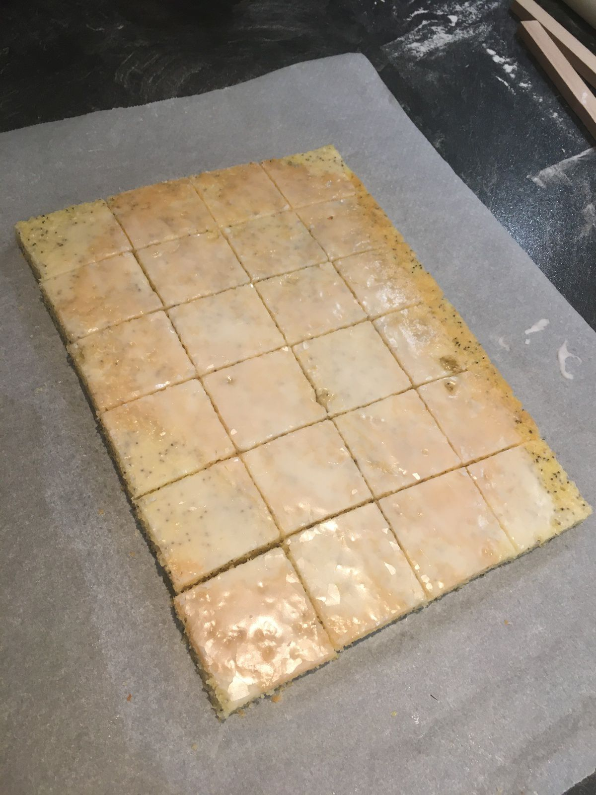Les blondies au citron