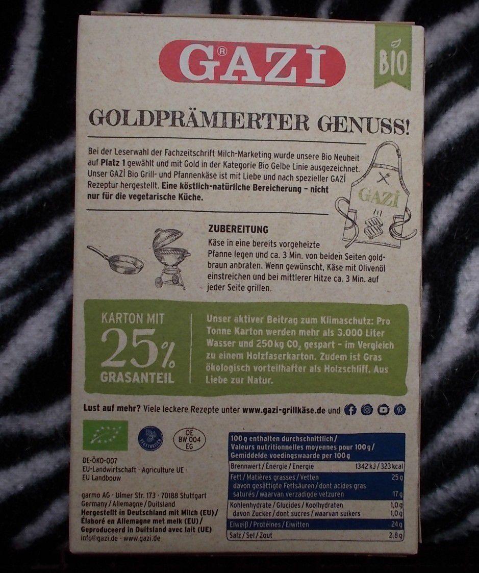 Gazi Grill- und Pfannenkäse Natur Bio