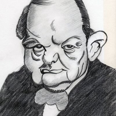 caricature churchill