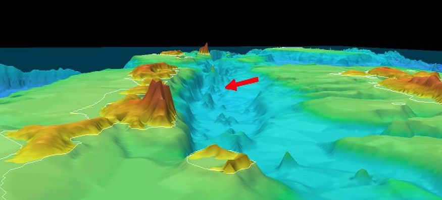 Location & Bathymetry of the Orca submarine volcano - Doc. La Tercera