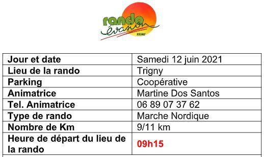 Marche nordique samedi 12 juin à Trigny