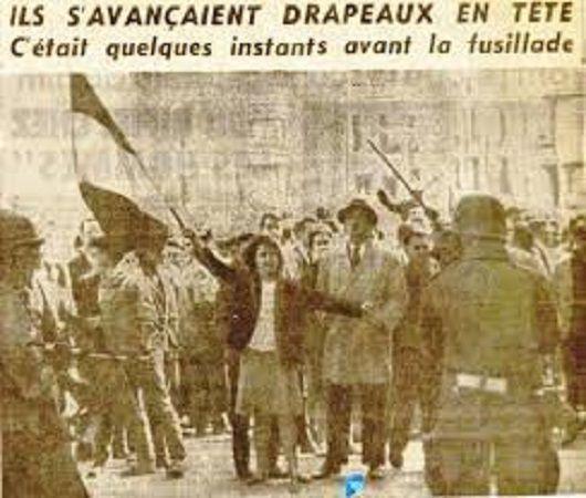 1962...MORTS EN ALGÉRIE .....DRAPEAU EN MAIN.. ..
