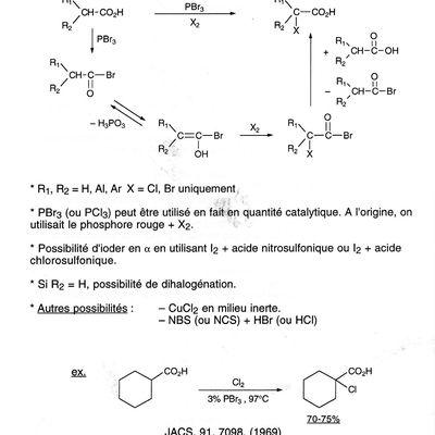 Théorie -47- réaction de Hell-Volhard-Zelinsky