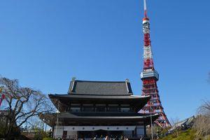 Tôkyô : Le temple Zôjô-ji (増上寺) et la tour de Tokyo