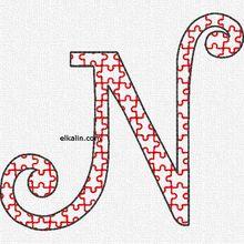 Alphabet puzzle: la lettre N