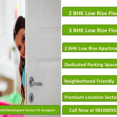 Smart World Floors Gurgaon: 9810009339 || 2.5 BHK || 3 BHK || Call now