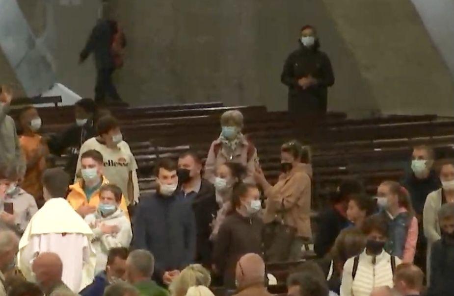 Ce matin à la Basilique Saint Pie X
