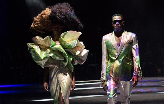D'banj sur les podiums lors de la semaine de la mode à Johannesburg de l'African Fashion International