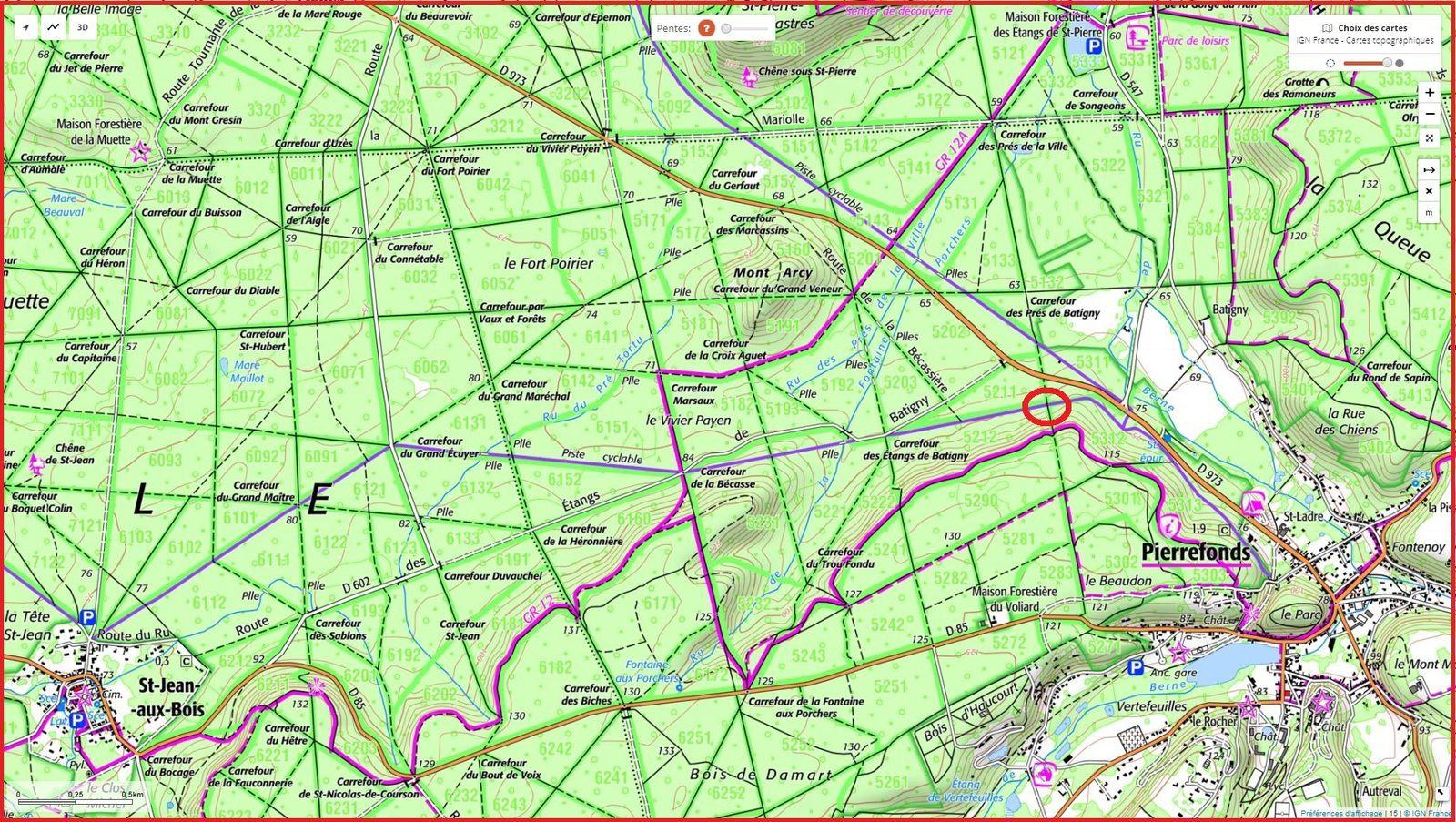 carrefour_Route des Pendants Mathieu_piste cyclable