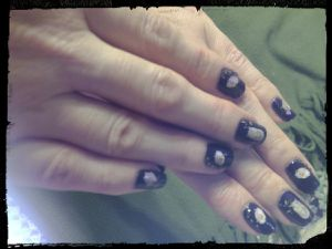 Nail Art Hiboux....Water decal boutique Yoko....