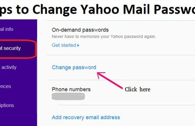 Steps to Change Yahoo Mail Password