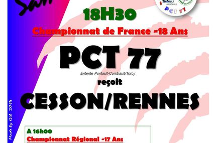ENTENTE PCT 77 vs CESSON/RENNES (CdF -18M) 11.10.2014