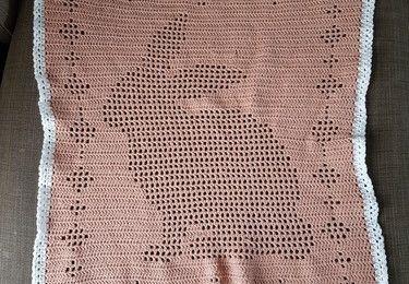 Couverture filet - Motif Lapin