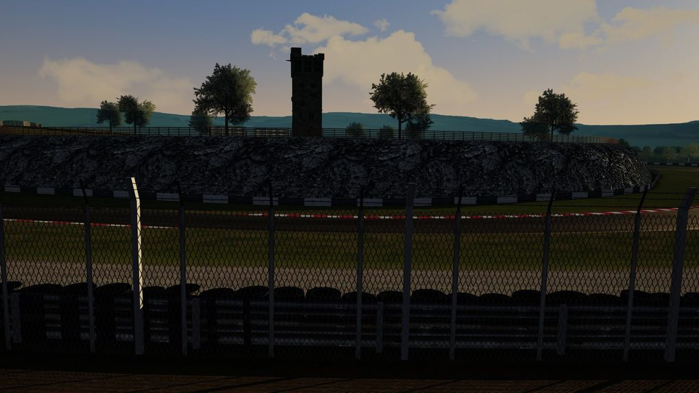 Assetto Corsa circuit Castle Hill en préparation