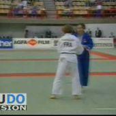 Video de judo : combat Meignan (FRA) - Werbrouck (BEL) - te-guruma - Championnats d'Europe Athènes 1993