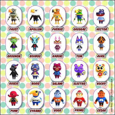 Les personnages versatiles (New Horizons)