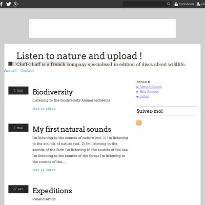 Listen to nature and upload !