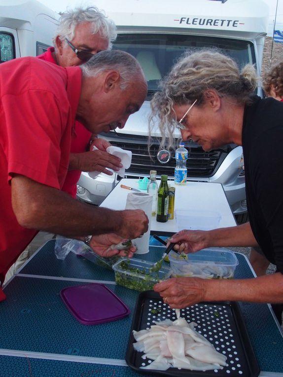 préparation des calamars ....