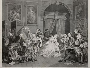 William Hogarth, Le Mariage à la mode, 1745 ( Bnf)