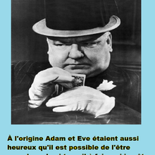 Heureux Adam et Eve, confinés au Paradis ? Une citation de W.C. Fields
