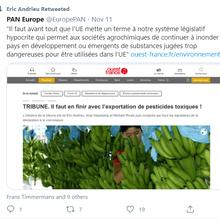 Exportation de pesticides «interdits»: la Commission en état de siège
