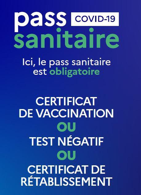 Obligation du pass sanitaire