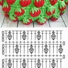 Corbeille de fraises au crochet