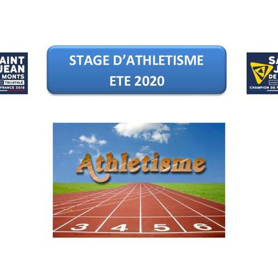 STAGE D'ATHLETISME ETE 2020