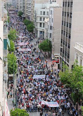 Grève du 20 Mai en Grèce: des millions de travailleurs en grève, des dizaines de milliers dans la rue, un nouveau succès pour le PAME