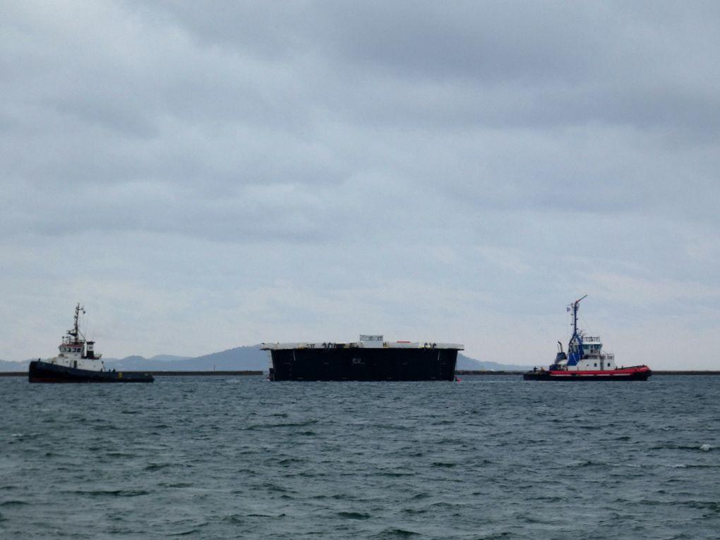 FELIX , BATEAU PORTE  , TOULONNAIS XVII , En petite rade de Toulon et se dirigeant vers le mole d'armement à la Seyne sur Mer le 08 mai 2019