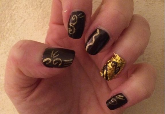 #nailart Silence et d'Or
