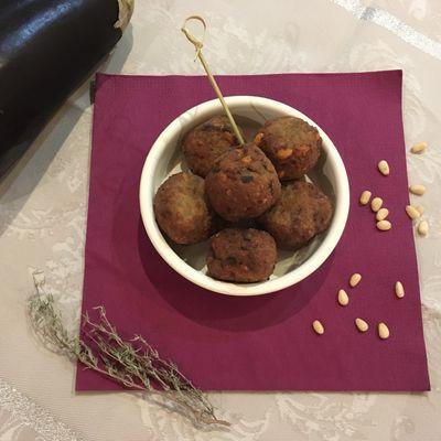 Boulettes d'aubergines aux pignons