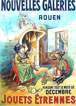 PUBLICITES ANCIENNES: LES ETRENNES, LES JEUX D'ENFANTS,LES AFFICHES DES GRANDS MAGASINS DE JOUETS...